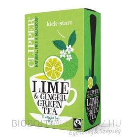 Clipper bio fair trade organic zöld tea lime és gyömbérrel 40g